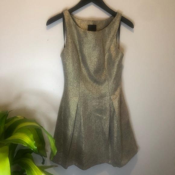 Bebe Design Lab Wool Foil Mini Dress